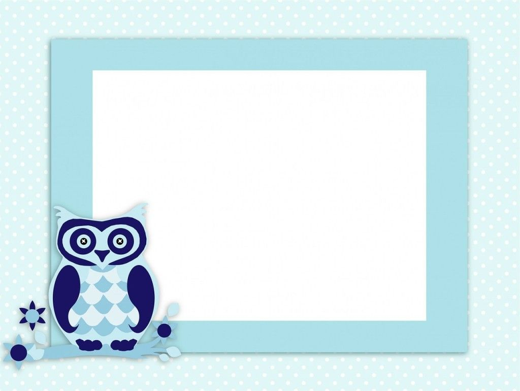 blue invite with owl
