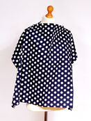 Palm & Pond Breastfeeding Cover With Boning - Navy Blue & White Spots, Large additional 1