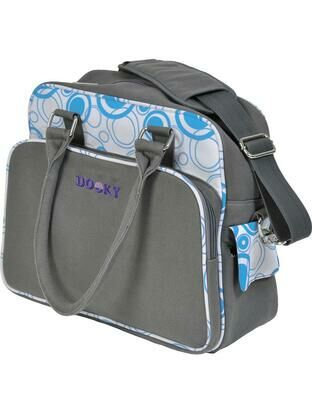 Dooky Changing Bag with Pull & Wipe Aqua Circles