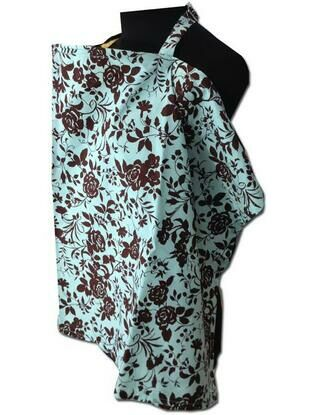 Palm & Pond Turquoise Rose Baby Breastfeeding Cover