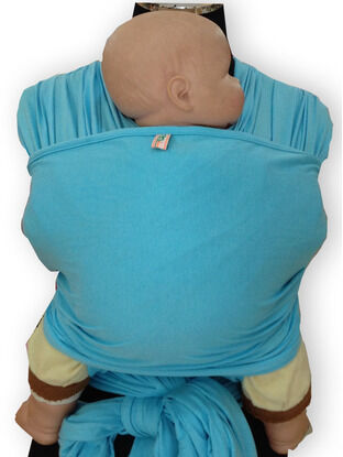 Palm & Pond 100% Cotton Baby Wrap Sling - Baby Blue