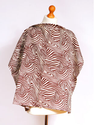 Palm & Pond Breastfeeding Cover With Boning  - Brown Zebra Large