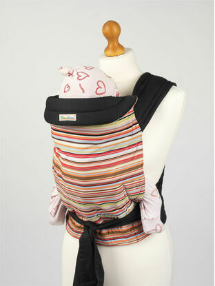 Palm & Pond Mei Tai Baby Sling with Coloured Stripes Design