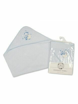 Snuggle Baby Hooded Towel 75x75 cm Baby Blue Soap
