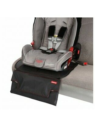 Diono Super Mat Deluxe Seat Protector with Zip Off Changing Mat (Black) 60365