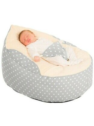 Gaga Cuddlesoft Pre-filled Baby Bean bag - Soft Stars Platinum