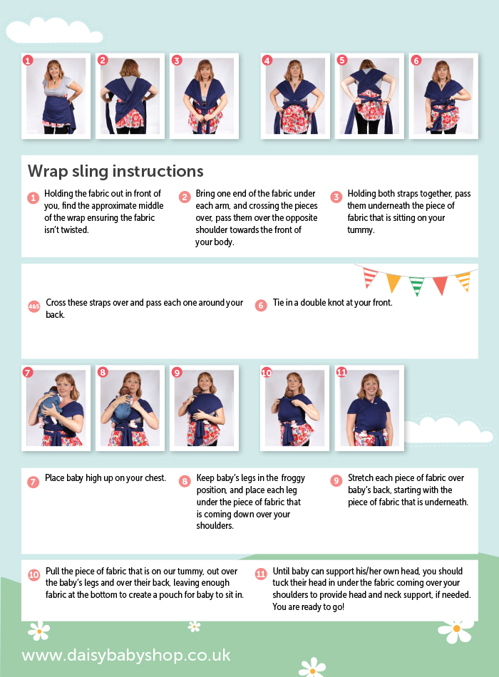 How To Tie A Baby Wrap Sling